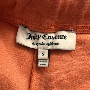 Juicy Couture Pants - Juicy Couture Velour Sweatpants in Peach